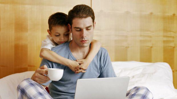 Trabalhar em Casa e os seu Filhos
